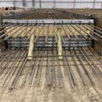 Duct pit slabs progress