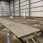 300m3 pours to the internal foundations