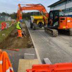 digger at work in Farnborough