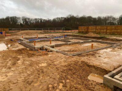 groundworks in Charvil in progress