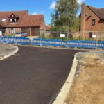 New road with tarmac base
